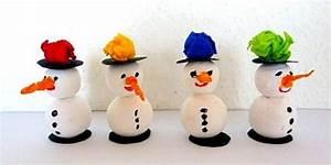 Schneemann Basteln Styropor : schneem nner aus wattekugeln weihnachten basteln meine ~ Lizthompson.info Haus und Dekorationen