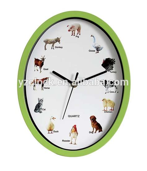 oval animal sound wall clock buy oval animal sound wall