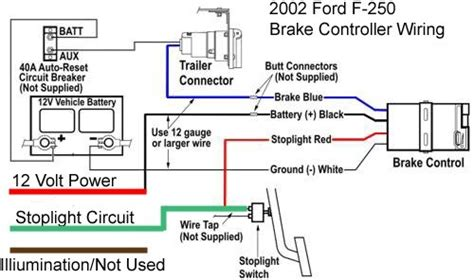 Light Wiring Diagram For 95 Ford F 250 by Wire Diagram For Installing A Voyager Brake Controller On