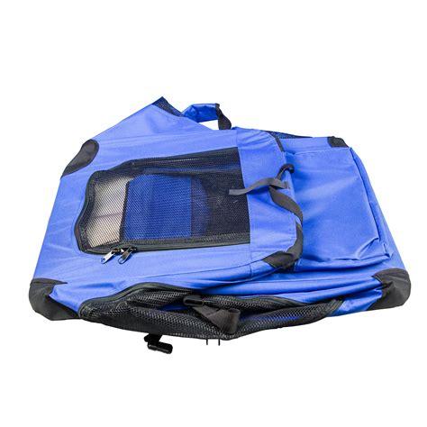 transportbox hund faltbar hundetragetasche gr 246 223 e l hundebox blau transportbox katze hund faltbar solide