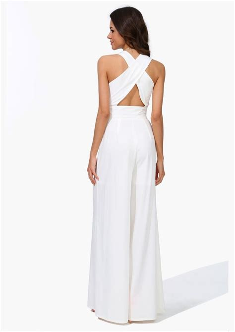 all white jumpsuit for plus size white jumpsuit