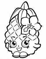 Pineapple Coloring Shopkin Fruits Potatoes sketch template