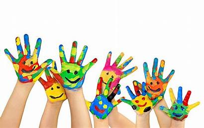 Hands Children Painted Smile Multicolored