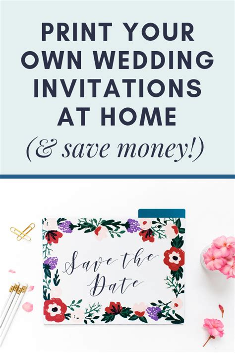 print your own wedding invitations at home an easy guide