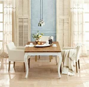Weiße Stühle Esszimmer : esszimmer landhaus stil einrichtung ideen wei e st hle mediterrane tisch deko dream home ~ Eleganceandgraceweddings.com Haus und Dekorationen