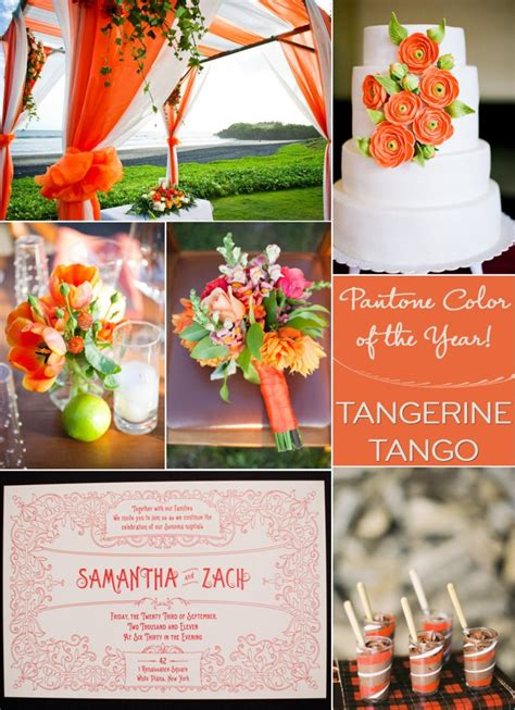 Spice Up Your Wedding Color Palette With Tangerine Tango