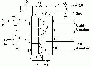22w stereo power amplifier with tda1554 schematic design With 22w mono amplifier circuit diagram