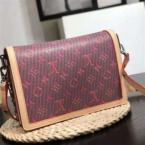 louis vuitton lv women dauphine mm handbag  monogram canvas pink lulux