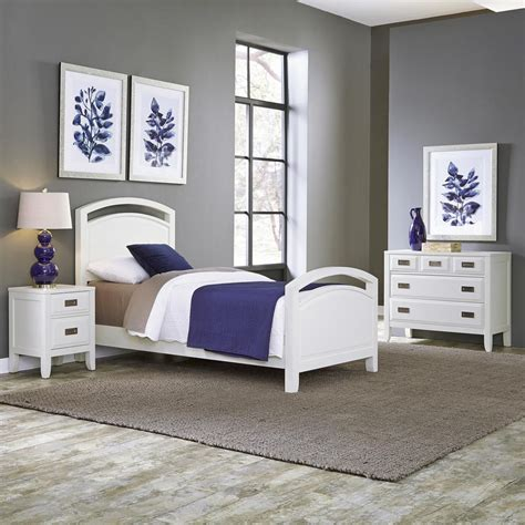 home styles newport  piece white twin bedroom set
