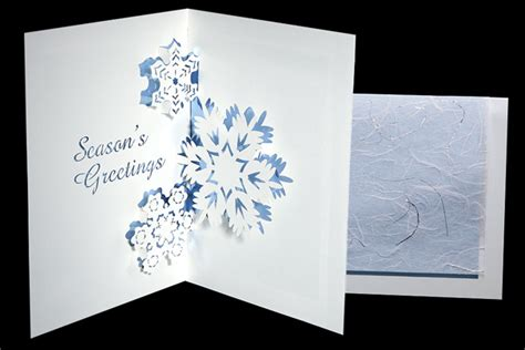 snowflakes origami architecture pop  cards