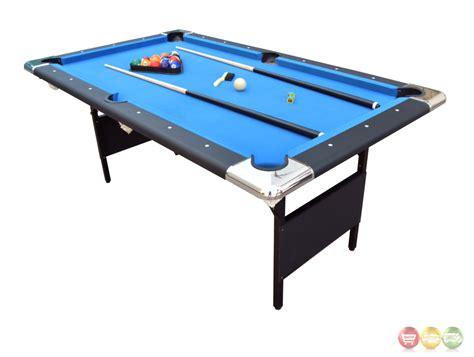 folding pool table 7ft blue fairmont 6 ft portable folding pool table w carrying