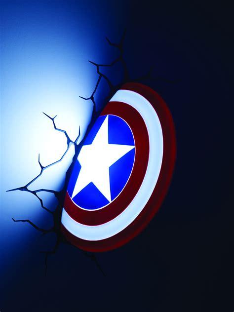 feb158228 marvel captain america shield 3d light previews world