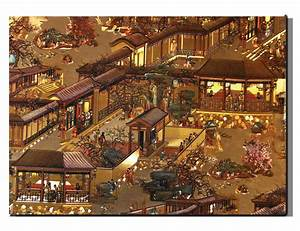 Canvas Wall Art Chinese Village Song Dynasty 50 x 70 cm ...