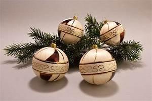 Weihnachtskugeln Aus Lauscha : eis champagner braun christbaumkugeln ~ Orissabook.com Haus und Dekorationen