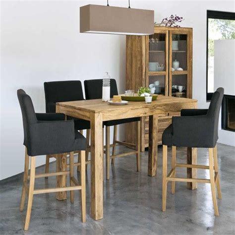 cuisine plan de travail bois massif les 25 meilleures idées concernant table haute bar sur