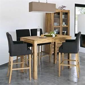 Table Ronde Haute : table salle a manger haute table a manger ronde bois maisonjoffrois ~ Teatrodelosmanantiales.com Idées de Décoration