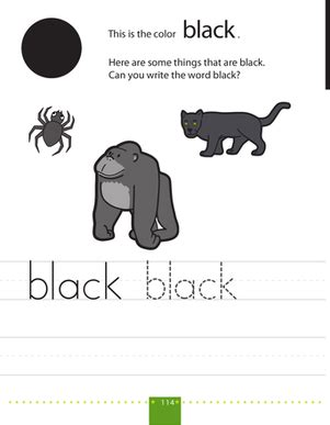 black worksheet writing colors black worksheet education