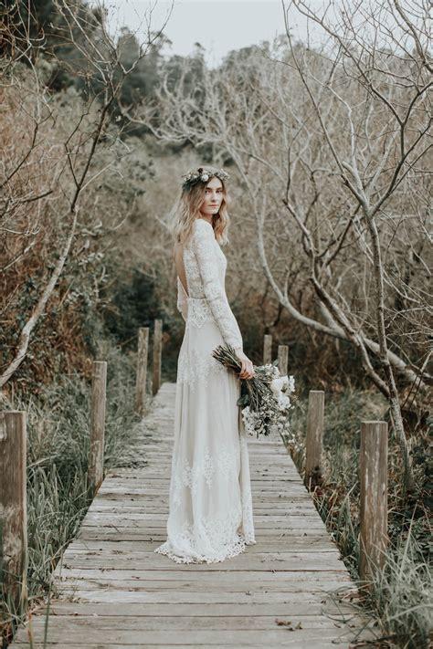 Lisa Backless Boho Lace Wedding Dress Dreamers And Lovers