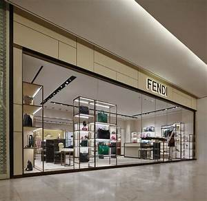The display of the Fendi collections at the newly opened ...