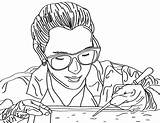 Coloring Scientist Biologist Environment Lab Scientists Works sketch template
