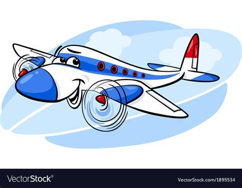 Air Plane Cartoon Royalty Free Vector Image