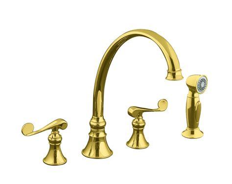 brass faucet kitchen kohler revival kitchen sink faucet in vibrant polished