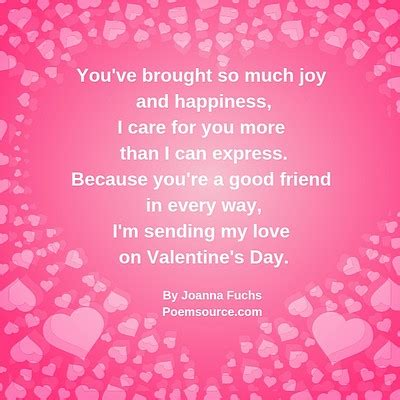 Valentine Poems for Best Friends