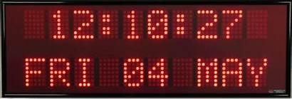 Clocks Alpha Line Digital Double Display Matrix