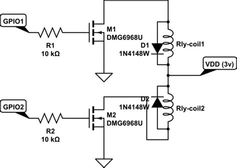 Microcontroller Driving Latching Relay With