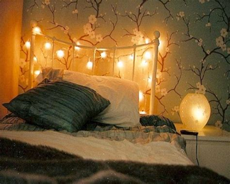 bedroom decoration for valentines day with romantic lights