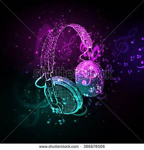 Abstract Headphones Cover Note Easy All Stock Vector