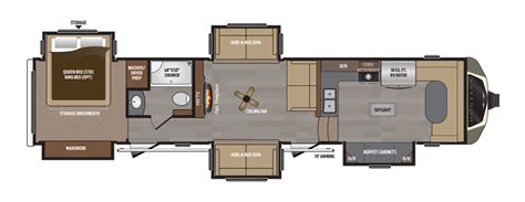 Montana 5th Wheel Bunkhouse Floor Plans by Keystone Montana Floor Plans Rv Steals Deals South