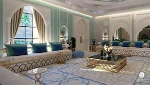 Woman, Majlis, Interior, Design, And, Arabic, Decoration, In, Abu