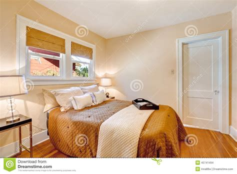 warm colours for bedroom walls warm bedroom interior with brown bedding and ivory blanket stock photo image 45741494