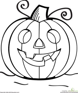 color  grinning jack  lantern worksheet educationcom