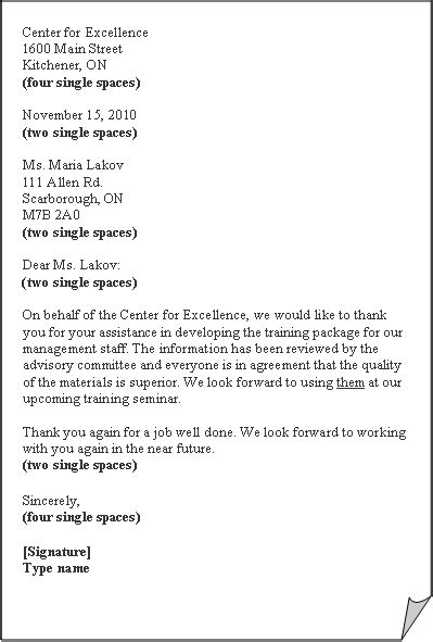 business letter format activity