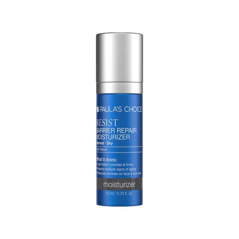 resist barrier repair moisturizer  retinol paulas