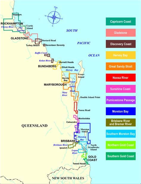 Boat Transport Australia Wide by Boating Maps Maritime Safety Queensland