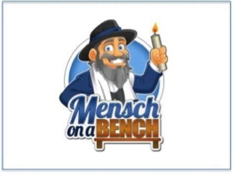 mensch on a bench mensch on a bench book add more funukkah to