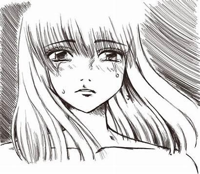 Sad Anime Drawing Deviantart Drawings Line Manga
