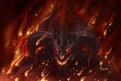 Demon Angel Fire Hell Wolf Shadow Dragon