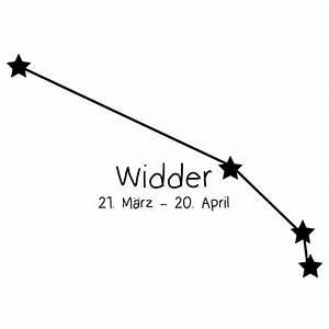 Sternbild Widder Wandtattoo