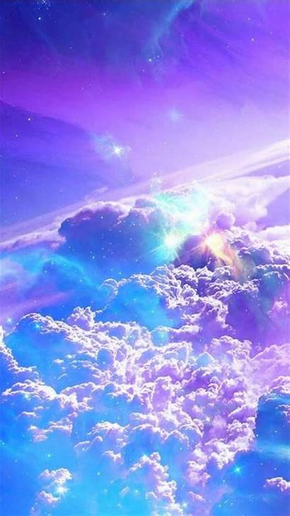 Galaxy Phone Wallpapers Cloud Desktop Cool Purple