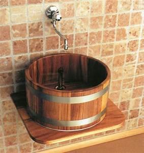 Waschtischplatte Holz Für Aufsatzwaschbecken : holz waschbecken und waschtische ~ Lizthompson.info Haus und Dekorationen