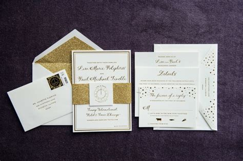 years eve wedding  glittering metallic details