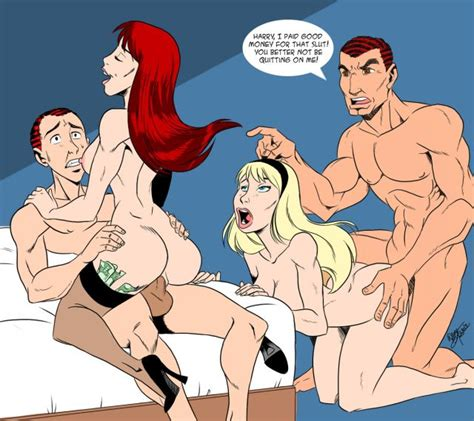 Gwen Stacy And Mary Jane Fuck Marvel Group Sex Sorted