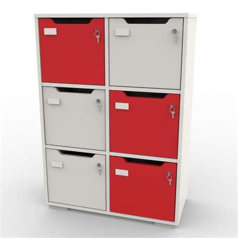 casier bureau vestiaire 6 casiers bois meuble vestiaire design