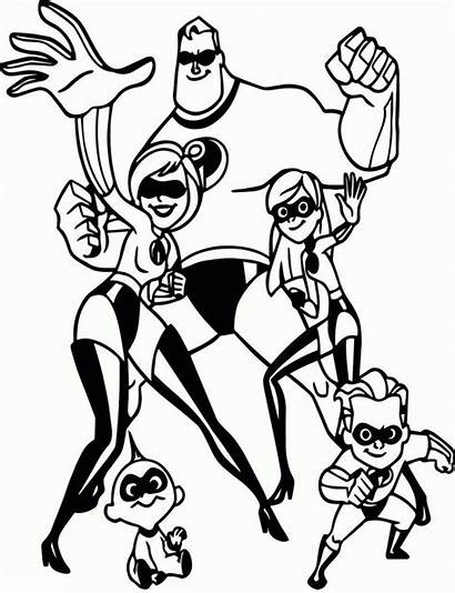 Coloring Incredibles Disney Superhero Hero Sheets Printable
