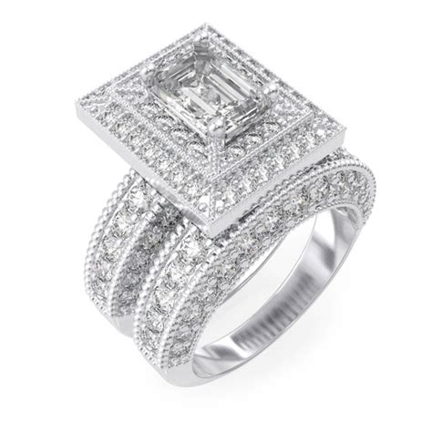 925 sterling silver rhodium finish cz antique style