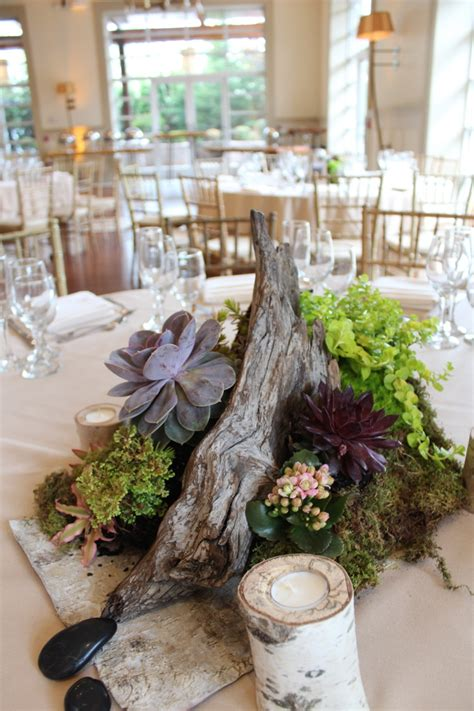 succulent wedding decor at the house at stirling